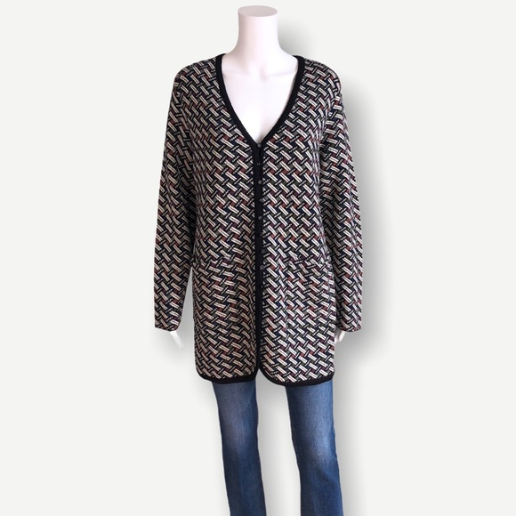 VINTAGE 90's French Rags Knit Button Down Cardigan